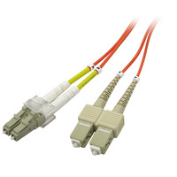 PeakOptical fiber optic kabel: SC/LC, Duplex, MM, 1m, 50um/OM2