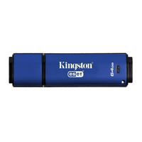 Kingston Technology USB flash drive: DataTraveler Vault Privacy 3.0 Anti-Virus 64GB - Blauw