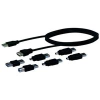 Schwaiger USB kabel: USB 2.0 Connection Set (7 Components) - Zwart