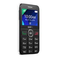 Alcatel 20.08G mobiele telefoon - Zwart, Wit