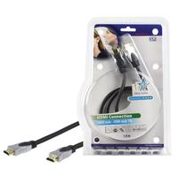 HQ HDMI kabel: 1m HDMI High Speed - Zwart