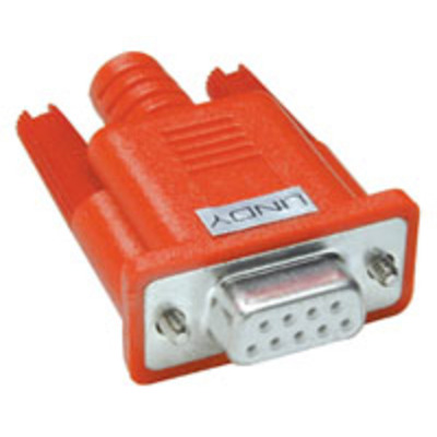 Lindy Serial LoopBack Connector (9 Way D Female) Kabel connector - Rood