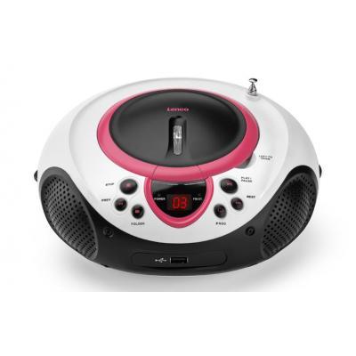 Lenco CD speler: SCD-38 USB rosa - Rood