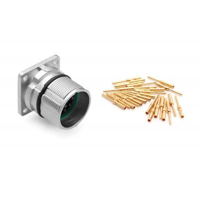 Amphenol elektrische standaardconnector: MA1LAE1700-Kit 17 Position Receptacle Kit, Threaded, E Type, Pin Contacts - .....