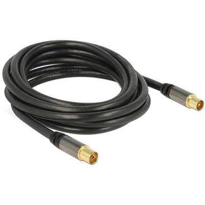 DeLOCK 88924 Coax kabel - Zwart