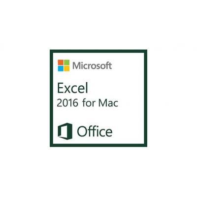 Microsoft spreadsheet software: EXCELMAC 2016 D AP