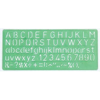Linex belletering: Template 10 mm, green - Groen
