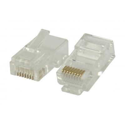 Valueline kabel connector: RJ45 connectors for solid UTP CAT6 cables - Transparant