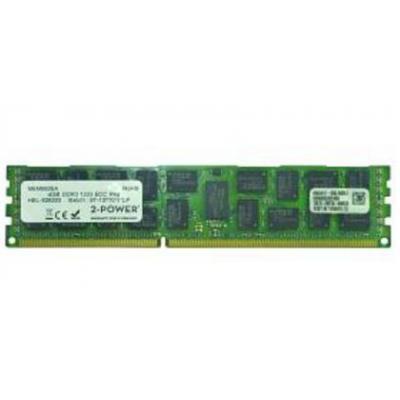 2-power RAM-geheugen: 4GB DDR3L 1.35V RDIMM - Groen