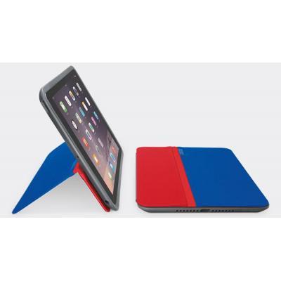 Logitech tablet case: AnyAngle  Cover, Blauw/ Rood voor iPad mini, iPad mini 2 / 3 - Blauw, Rood