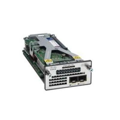 Cisco netwerkkaart: Two 10GbE SFP+ ports service module for Catalyst 3560-X and 3750-X (spare) - Zwart, Zilver, Wit