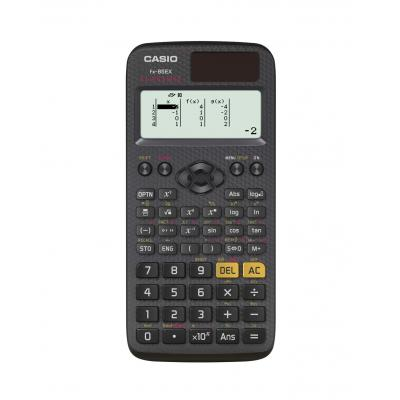 Casio calculator: 16/10 + 2 digits, 192×63 pix, 274 functions, 1 x LR44, Black - Zwart
