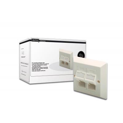 Assmann electronic wandcontactdoos: DN-93805 - Wit