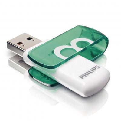Philips USB flash drive: USB Flash Drive - Groen, Wit
