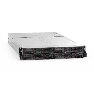 Lenovo 2U, 4 x PCIe x 16, 2 x 1600W - Zwart