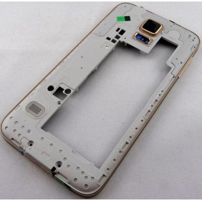 Samsung mobile phone spare part: SM-G900F Galaxy S5, Middle Cover + Camera Lens, gold