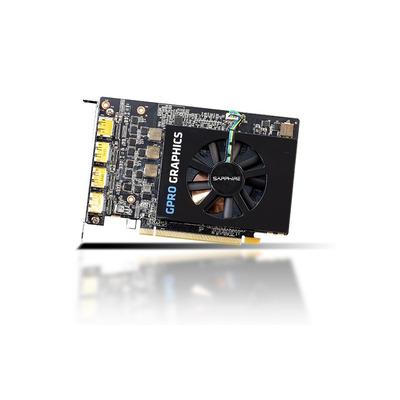 Sapphire 8GB, GDDR5, 128-bit, 4xDisplayPort, 1-slot Videokaart - Zwart