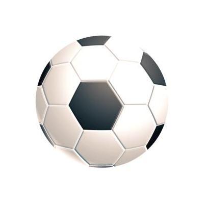 Fellowes Brite Muismat rond - Voetbal muismat - Zwart, Wit