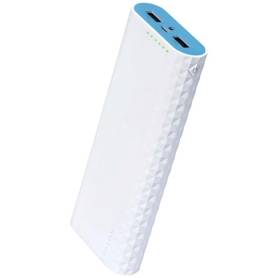 Tp-link powerbank: 15600mAh Power Bank 2 USB 2.0 ports LED Flashlight - Wit