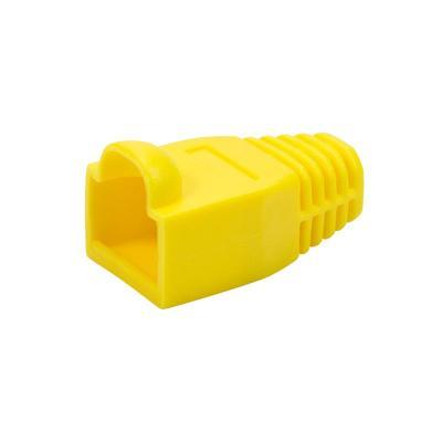 LogiLink Strain relief boot 6.5 mm for RJ45 plugs, 50 pcs, yellow Kabelbeschermer - Geel
