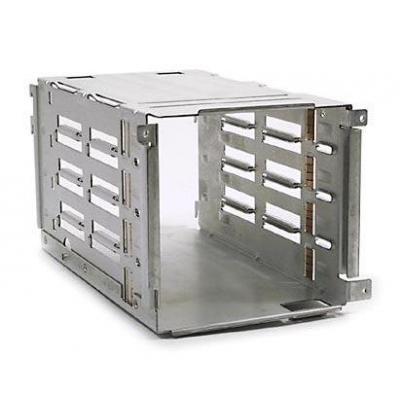 Hp rack toebehoren: SCSI drive cage - 4-slot - Zilver