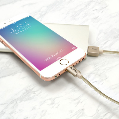 ADATA 1m, USB 2.0-A/Lightning - Goud