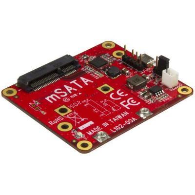 Startech.com interfaceadapter: USB naar mSATA converter voor Raspberry Pi en development boards - Rood