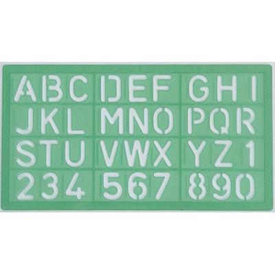 Linex belletering: Templates 30 mm, green - Groen