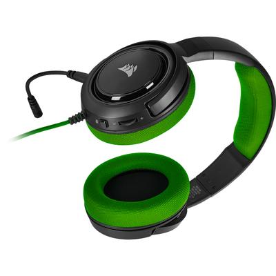 Corsair HS35 Headset - Zwart, Groen