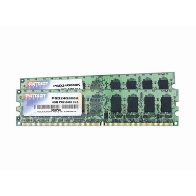 Patriot Memory 4GB DDR2 PC6400 DC Kit RAM-geheugen