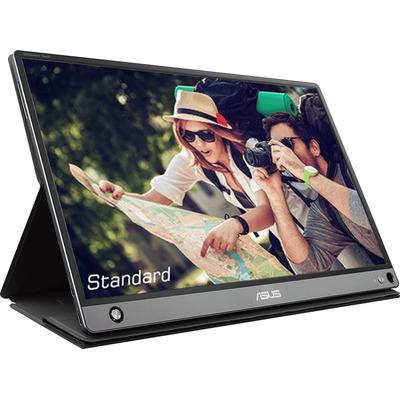 """ASUS ZenScreen MB16AMT 15.6"""" FHD IPS Touch Touchscreen monitor - Zwart, Grijs"""
