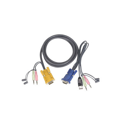 Iogear 10' Micro-Lite™ Bonded All-in-One USB KVM Cable KVM kabel