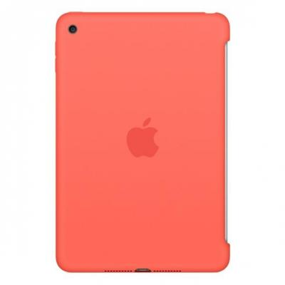 Apple tablet case: Siliconenhoes voor iPad mini 4 - Abrikoos - Rood