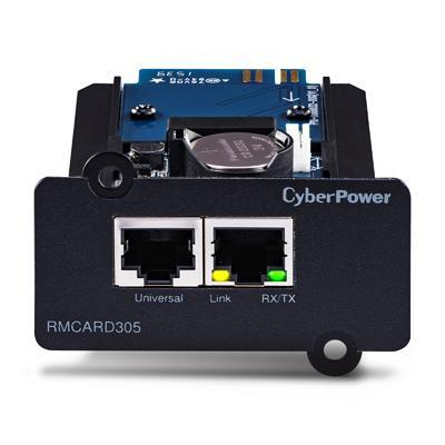 Cyberpower : RJ-45, 10/100 Mbps, TCP / IP, UDP, SNMP / HTTP, NTP, DNS, SMTP