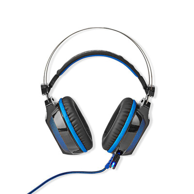 Nedis GHST500BK Headset - Zwart, Blauw
