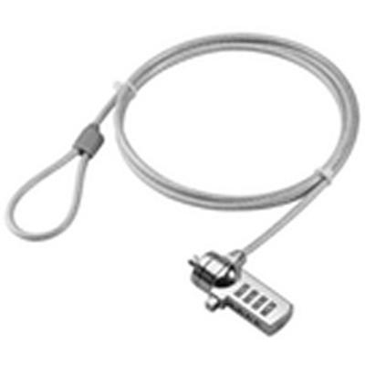 Microconnect PC Notebook combination lock Kabelslot - Zilver