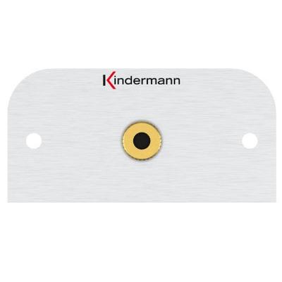 Kindermann 7441000411 Wandcontactdoos - Aluminium, Goud