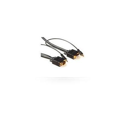 Microconnect 3m, HD15/3.5mm - HD15/3.5mm - Zwart