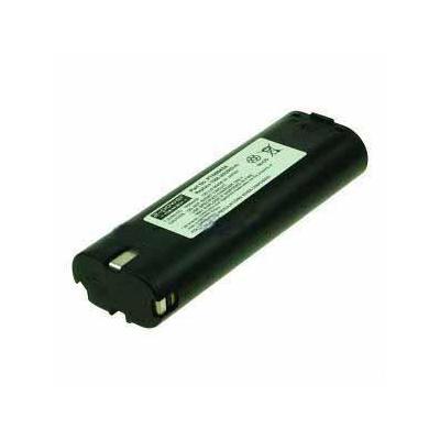 2-power batterij: Power Tools Battery, Ni-Cad, 7.2V, 1700mAh, Black - Zwart