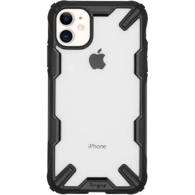 Ringke Fusion X Backcover iPhone 11 - Zwart - Zwart / Black Mobile phone case