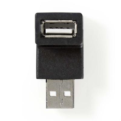 Nedis USB 2.0-Adapter, A Male - A Female, 90° Gehoekt, Zwart Kabel adapter