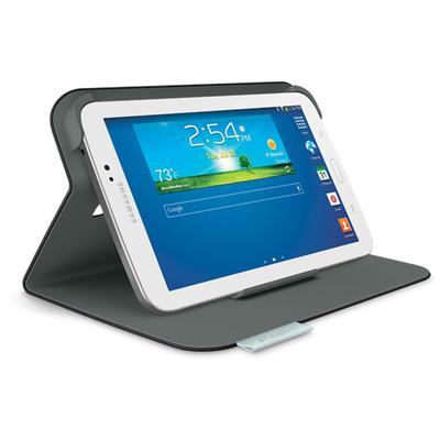 Logitech tablet case: Folio Protective Case, Samsung Galaxy Tab 3 7.0 - Zwart, Koolstof
