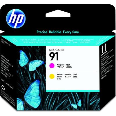 HP 91 Value Pack 775-ml Magenta/Yellow DesignJet Ink Cartridges/Printhead Printkop - Magenta, Geel