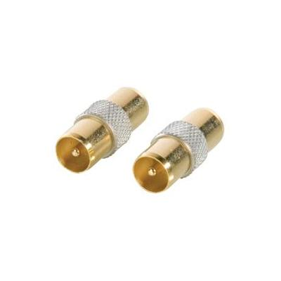 Hq coaxconnector: Coax - Coax Coupler Male - Male, Gold