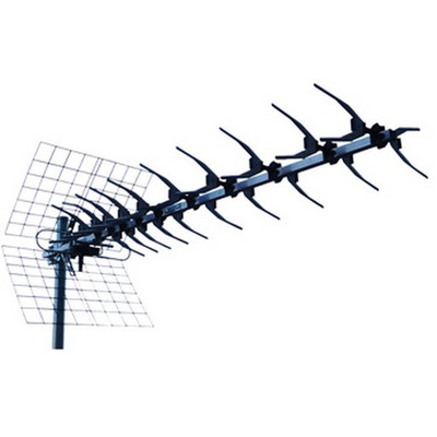 König ANT-UHF60L-KN Antenne - Zwart, Zilver