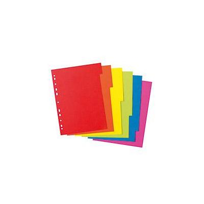 Herlitz schutkaart: index A4 6 parts intense colours - Multi kleuren