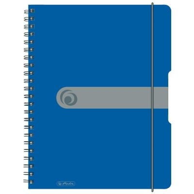 Herlitz spiral pad, A4 to go 80 sheets, spezial ruling blue, 80 g Schrijfblok - Blauw
