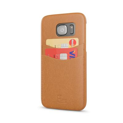 Behello mobile phone case: Samsung Galaxy S7 Backcase with cardslot brown - Bruin