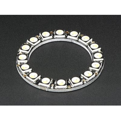 Adafruit decoratieve verlichting: 16x 5050 RGBW LEDs, Natural White, 4500K - Zwart