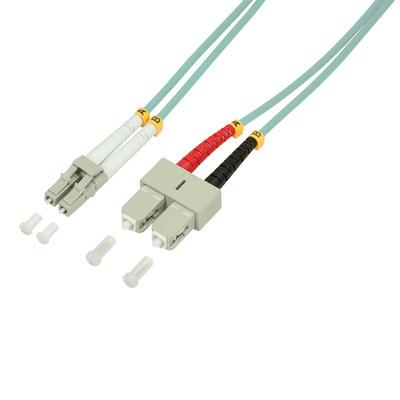 LogiLink 15m, LC - SC Fiber optic kabel